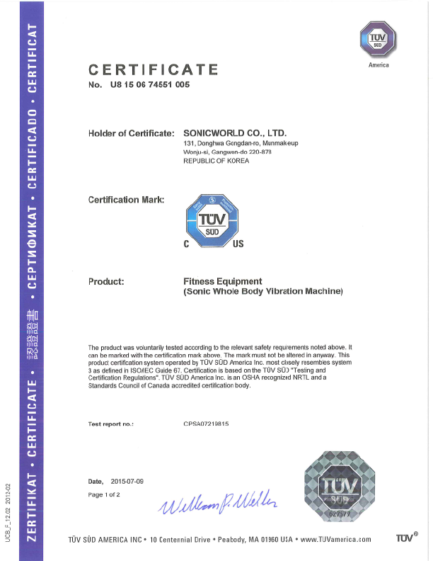Certifications - Sonic Health Solutions
